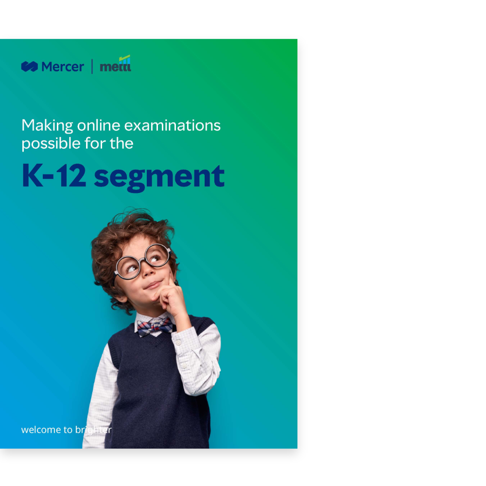 Are online exams a possibility for the K-12 segment?